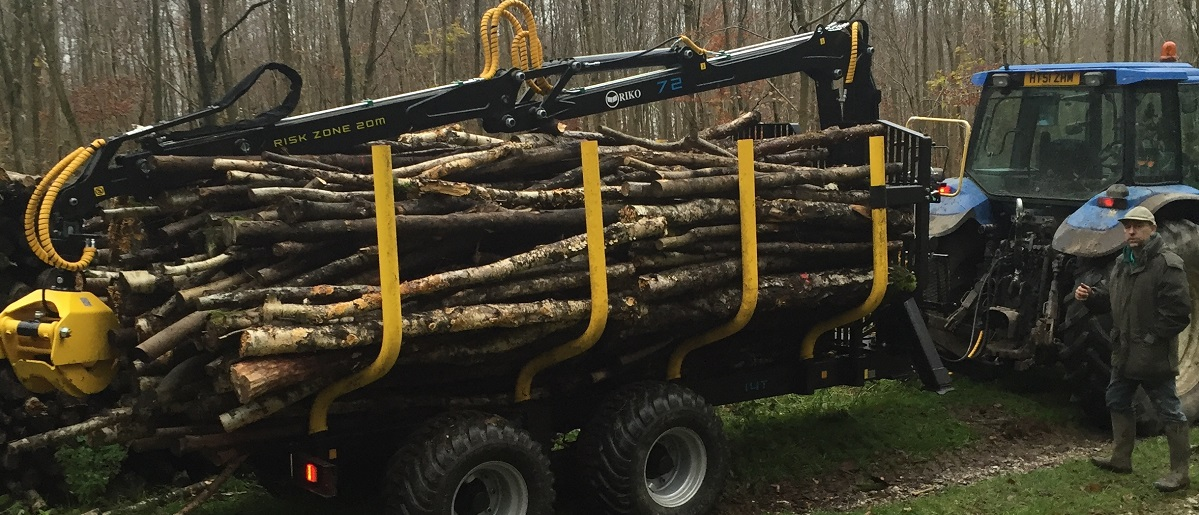 Transporting wood - West Sussex Logs